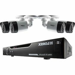 4-Channel 1080p HD Mpx DVR with 4 1080p Weatherproof IR Came