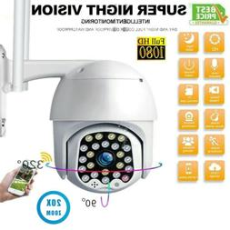 NEW 1080P HD IP CCTV Camera Waterproof Outdoor WiFi PTZ Secu