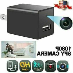 NEW 32GB 1080P USB Mini Motion Hidden Wall Charger Camera US