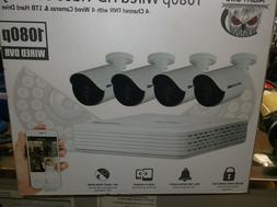 NEW Night Owl 4 Channel 1080p DVR with 4 x1080p Cameras and