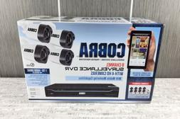 NEW COBRA 63890 8 Channel 1TB Surveillance System DVR w 4 HD