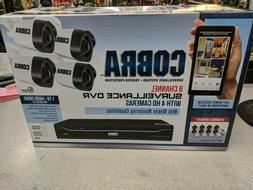 NEW Cobra 63890 8-Channel Security Camera System with 4 HD C