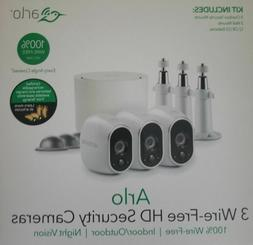 new arlo 3 wire free hd security