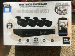 NEW!! Night Owl WM-8HD10L-4720-1 HD Security System 8CH 1TB