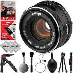 Opteka 50mm f/2.0 Prime Lens for Canon EF-M Mount APS-C Digi