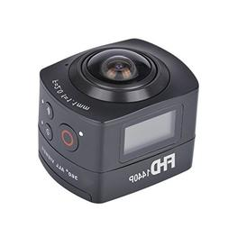 AMKOV 360 Degree Panoramic Fish-eye Camera 1440P HD Action C
