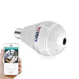 besder 1080p panoramic 360 degree wireless camera light bulb