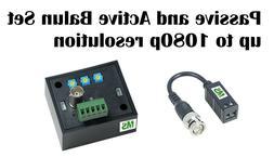 Passive & Active Balun for HD CCTV Cameras extend AHD/HD-CVI