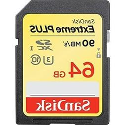 Brand New Sandisk Extreme Plus SDXC UHS-I 64GB Memory Card U