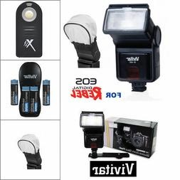 PRO HD LED FLASH + REMOTE + CHARGER + BATTERIES FOR ALL CANO