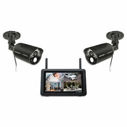 7-Inch High Resolution LCD Touchscreen Outdoor Cameras - Bla