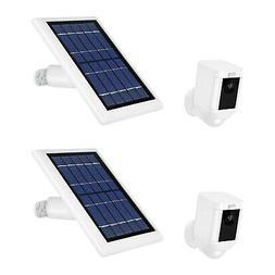 Ring Spotlight Cam Battery w/ Solar Panel Bundle  Durable Ou
