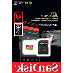 SanDisk Extreme 64GB microSDXC UHS-I Card - SDSQXAF-064G-GN6