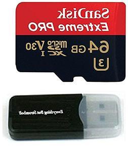 Sandisk 64GB 4326596692 Extreme Pro 4K Memory Card works wit