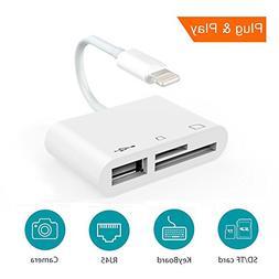 SD Card Reader, Digital Camera Reader Adapter Cable, Lightni