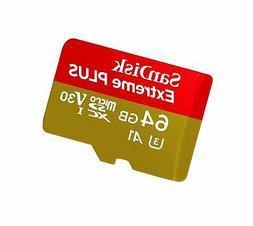 SanDisk Extreme PLUS 64GB microSDXC UHS-I Card - SDSQXBG-064