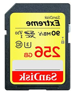 SanDisk 256GB Extreme SDXC UHS-I Memory Card - 90MB/s, C10,