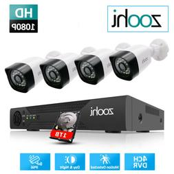 Security Camera System Outdoor AHD CCTV Home 1080P HD 4CH DV