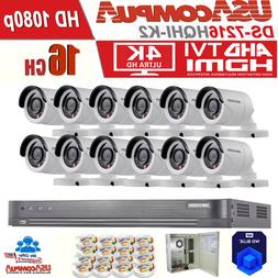 Hikvision Security System 12 Cameras 4TB TVI HD-TURBO  1080p
