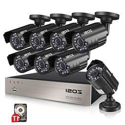 ZOSI 8-Channel 1080N HD Video Security System CCTV DVR 1TB H