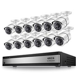 ZOSI 16 Channel 1080p Security System,16 Channel Full HD 108