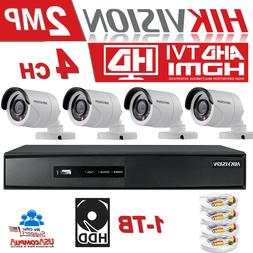 HIKVISION Security System KIT 4 CAMERAS 4CH Turbo HD DVR 108