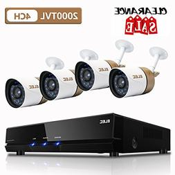 Security Camera System,ELEC 4-Channel AHD 1080N DVR HD 2000T