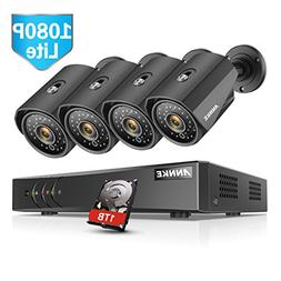 ANNKE 8 Channel Security Camera System with 1080P lite DVR +