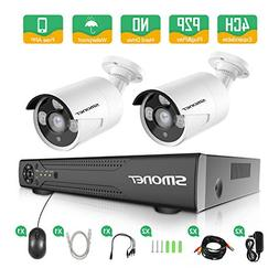HD Security Camera System, SMONET 4CH 4-in-1 HD DVR Surveill