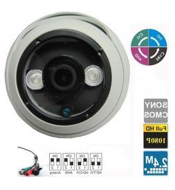 Set  HD TVI 2.4MP 1080p HD  CMOS Outdoor IR Dome Security Ca