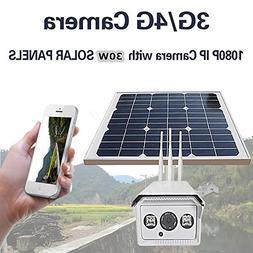 HITSAN 1080p solar power 30w bullet ip camera wireless 3g 4g