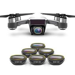 Anbee Spark Camera Lens Filter 6-Pack, Multi-coated HD UV CP