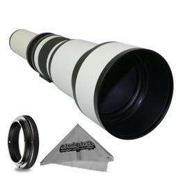 Super 650-1300mm f/8-16 HD Telephoto Zoom Lens for Canon EOS