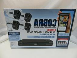 New Cobra 8 Channel Surveillance DVR with 4 HD Cameras