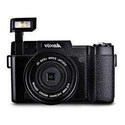 "Amkov 24MP 3.0"" TFT LCD Flip Screen 1080P FHD Digital Camera"