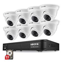 ZOSI 720P HD-TVI Home Surveillance Camera System ,8 Channel