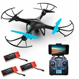 Force1 U45WF Blue Jay WiFi FPV Quadcopter Drone with HD Came