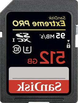 SanDisk 512GB Extreme Pro UHS-I U3 Class 10 SDXC Memory Card