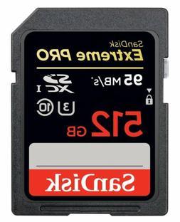 SanDisk Extreme PRO UHS-I/U3 SDXC 512GB Memory Card