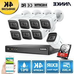 ANNKE Ultra HD 4K 8CH DVR 8MP Security Camera System Outdoor