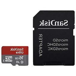 SanDisk 16GB Ultra microSDXC UHS-I Memory Card with Adapter