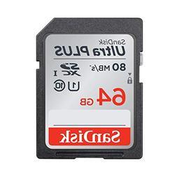 SanDisk Ultra PLUS 64GB SDXC Class 10 UHS-1 Memory Card - sp