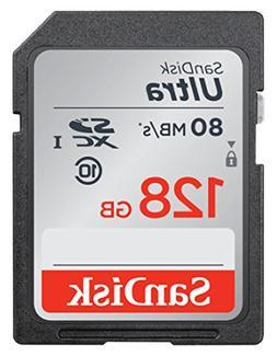 SanDisk Ultra 128 GB SDXC - Class 10/UHS-I - 80 MB/s Read