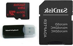 200GB SanDisk Ultra UHS-I Class 10 90mb/s MicroSDXC Memory C