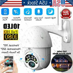 US 1080P HD IP CCTV Camera Waterproof Outdoor Wi-Fi PTZ Secu