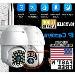 US 1080P HD IP CCTV Camera Waterproof Outdoor WiFi PTZ Secur