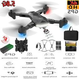 US 5.8G WIFI GPS Drone + Bag with 4K HD Camera  RC Quadcopte