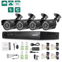 US HD 1080P Home 4CH DVR +4 Cameras Waterproof IR cut Night