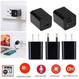 USA 1080P USB Mini SPY Motion Hidden Wall Charger Camera AC