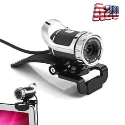 USB 300,000 Pixel HD Camera Webcam 360°MIC Clip-on Micropho